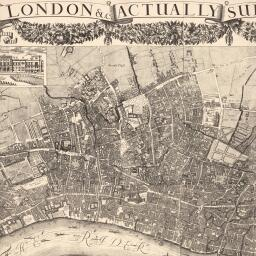 Map Of City Of London Uk.Morgan S Map Of The Whole Of London In 1682 British History Online