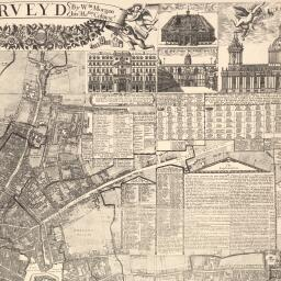 Map Of London 1600.Morgan S Map Of The Whole Of London In 1682 British History Online