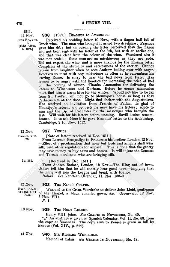 Henry VIII: September 1512 | British History Online