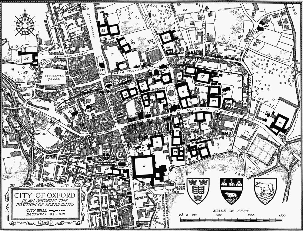 Plan 11 City Of Oxford Position Of The Monuments