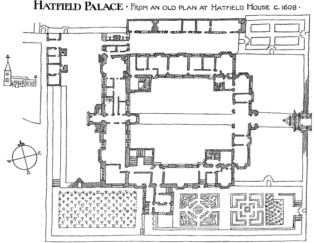 Bishop 39 s hatfield british history online for Palace house plans