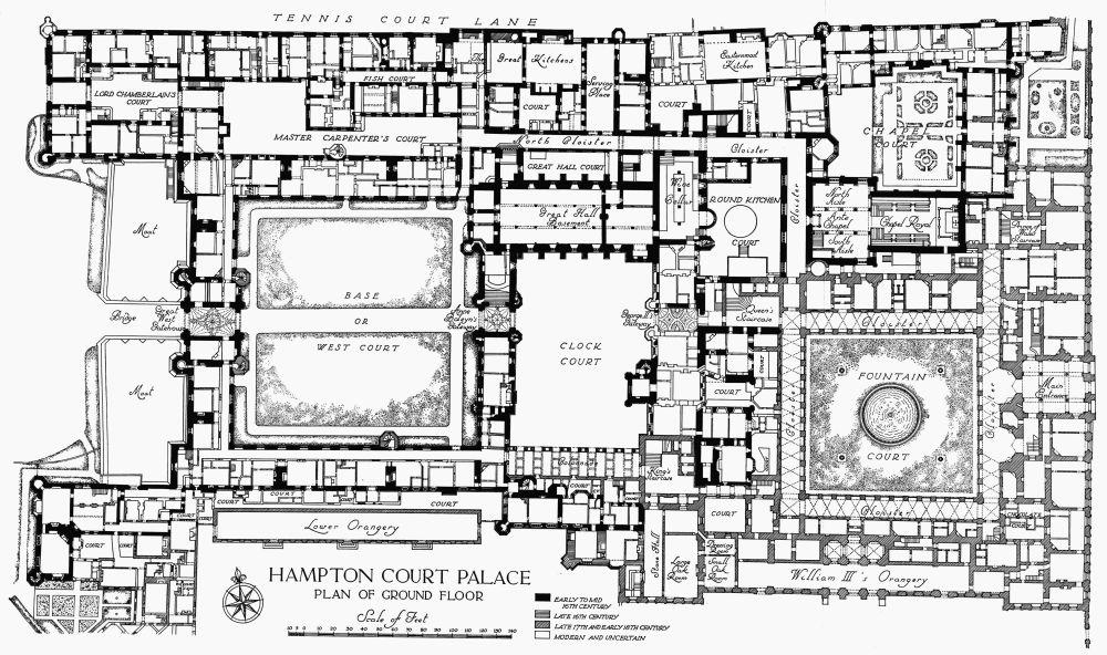 Plan 1 hampton court palace ground floor british history online hampton court palace ground floor malvernweather Images