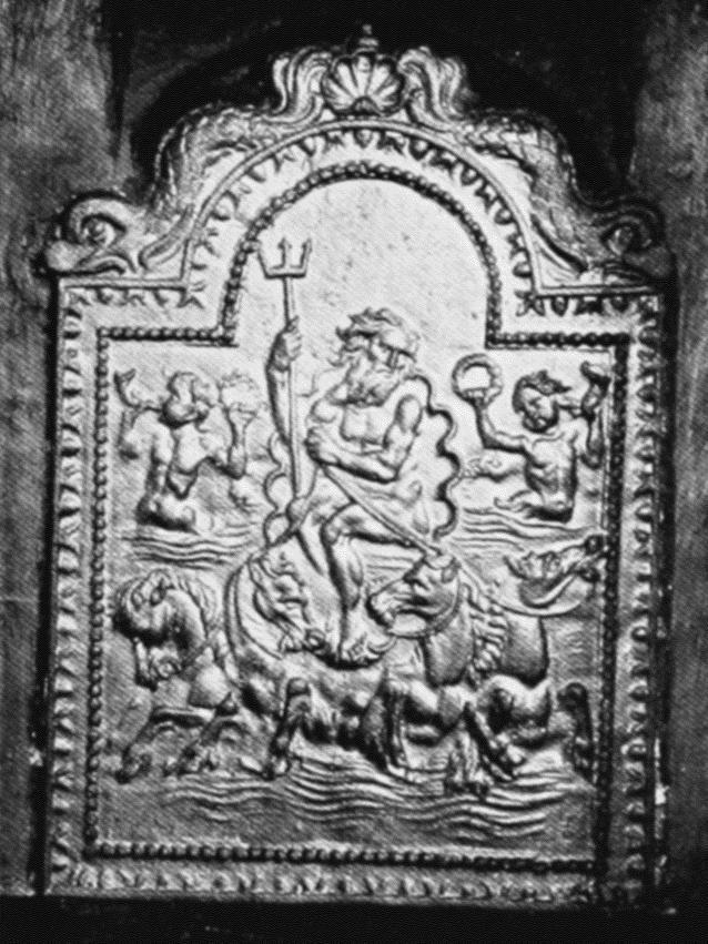 18th Century Drawing Room: Plate 109: Hampton, Hampton Court, Iron Firebacks
