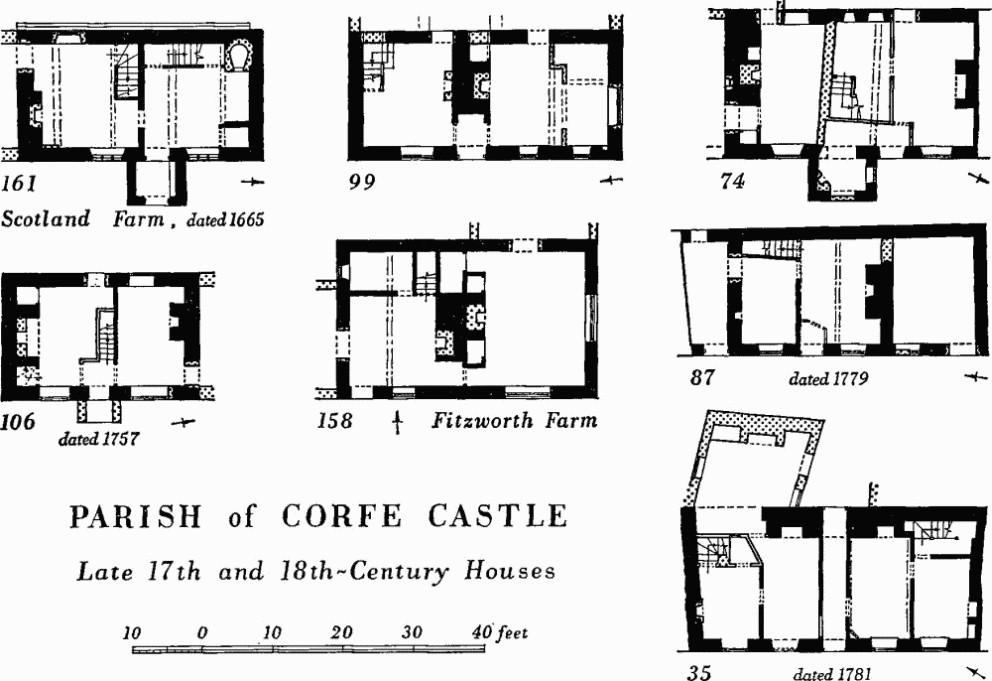 Corfe castle british history online for 100 floors 18th floor