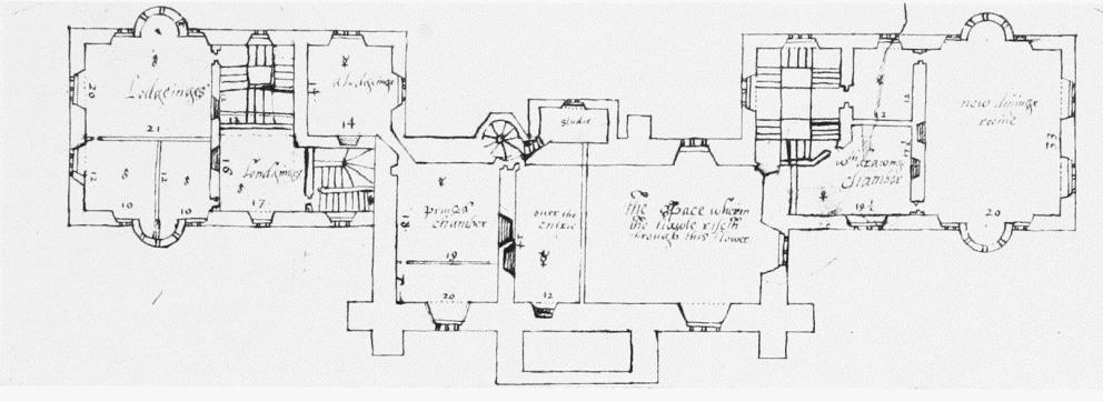 Plate 41 cranborne the manor house early plans for British house plans