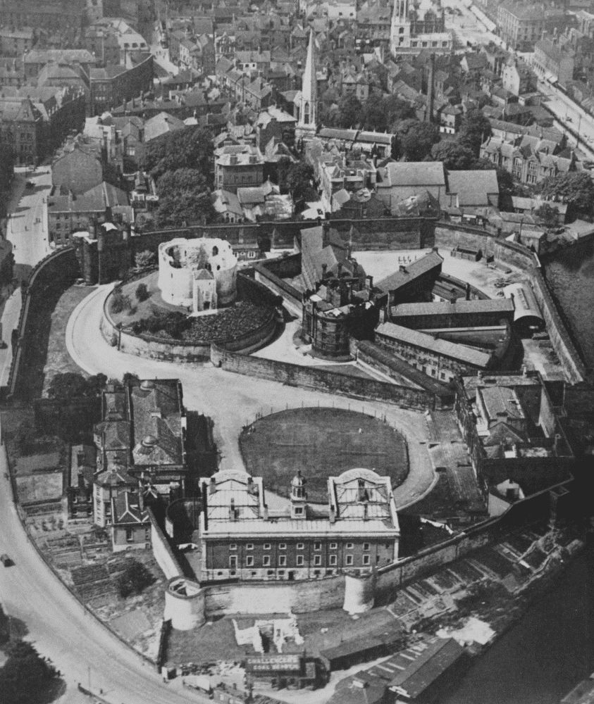 Plate 1 York Castle Aerial View From S E British History Online
