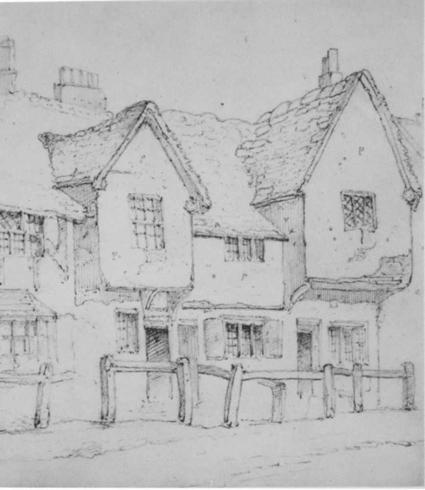 Plate 3 drawings of mediaeval buildings british history for Building drawing online