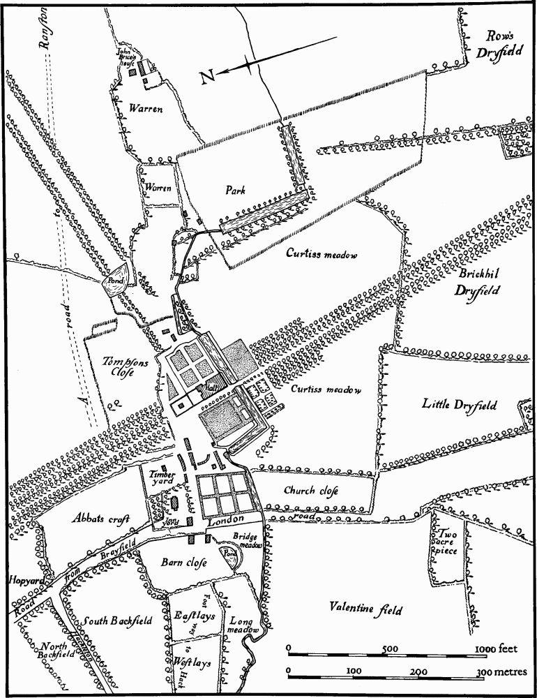 hackleton british history online 1000 Foot Alligator 64 hackleton 19 deserted village of horton drawing based on a plan of 1728