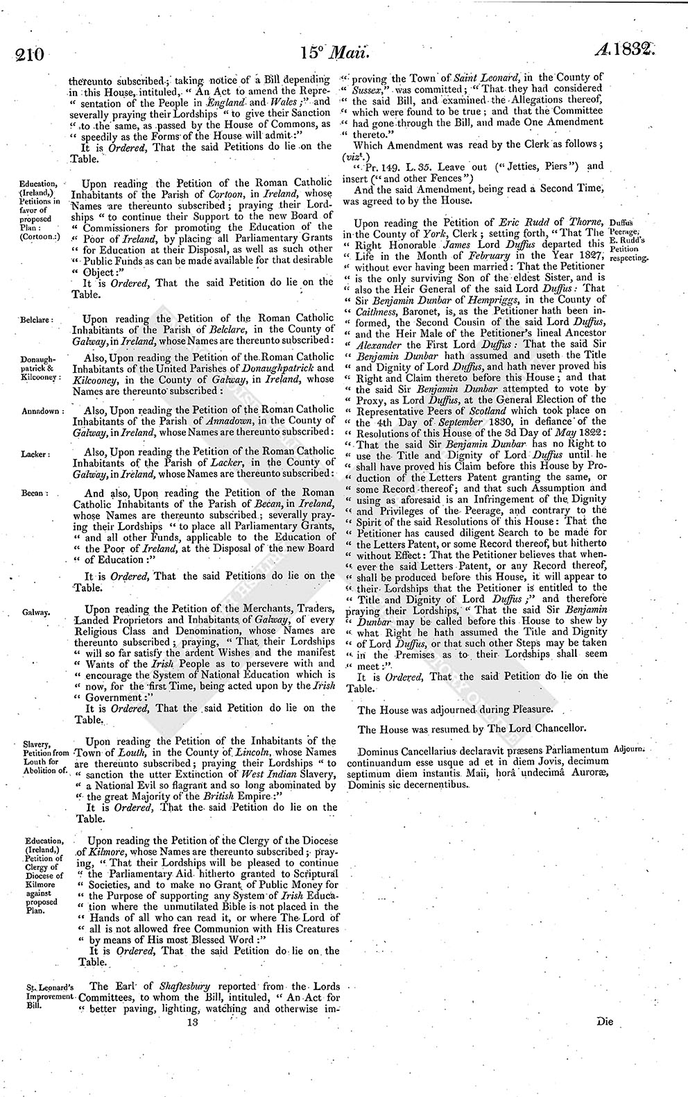 House of Lords Journal Volume 64: 15 May 1832 | British History Online