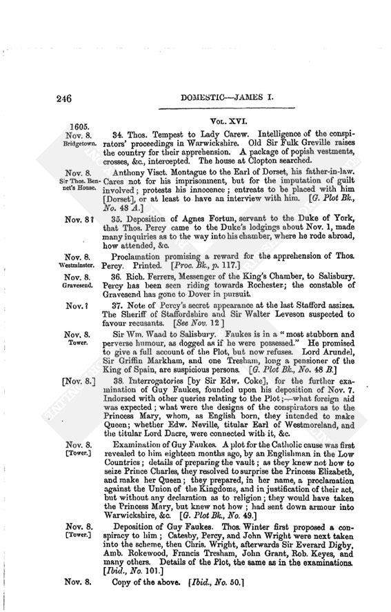 James I: Volume 16, November, 1605 | British History Online