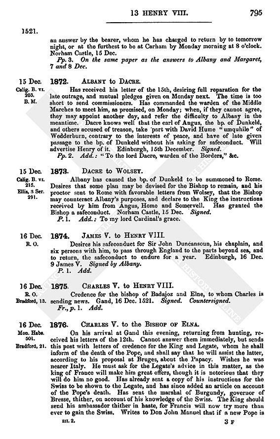 Henry Viii December 1521 11 20 British History Online