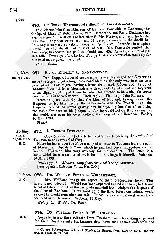 Henry Viii May 1538 6 10 British History Online