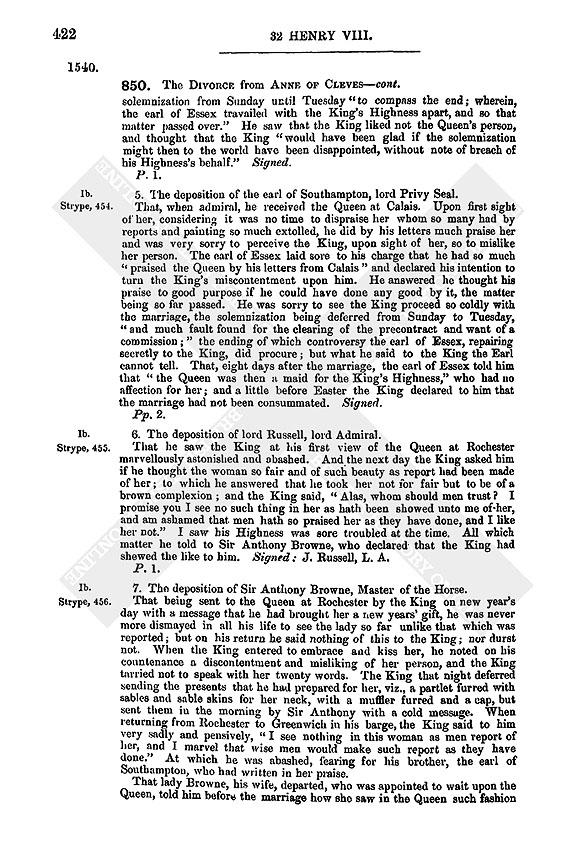 Henry VIII: July 1540, 1-10 | British History Online