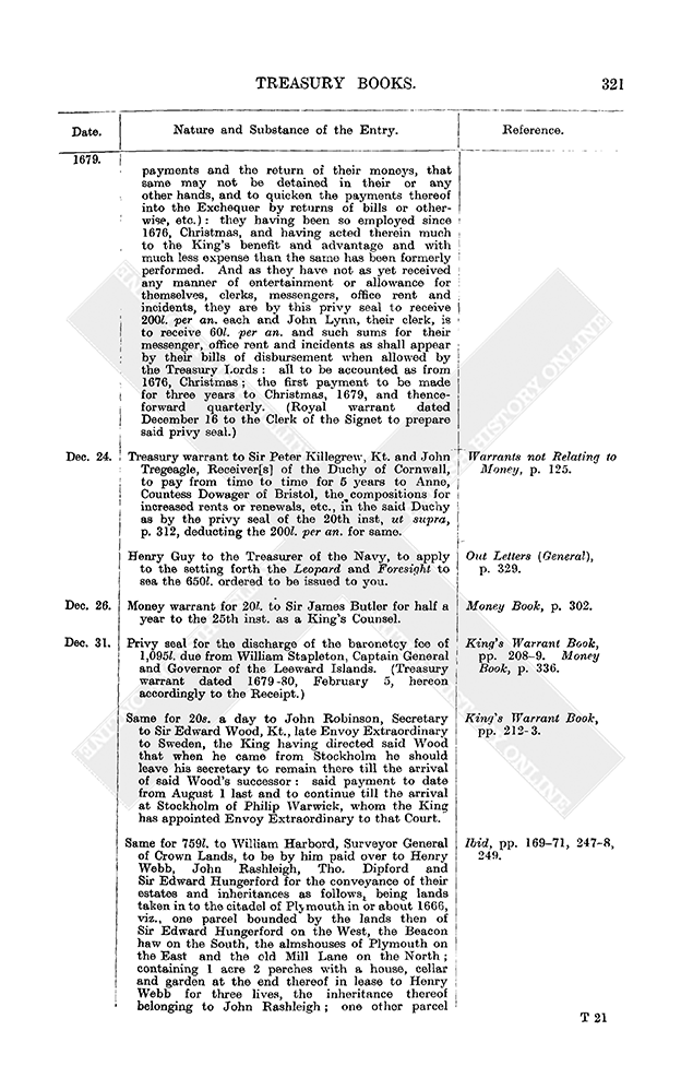 Entry Book: December 1679, 22-31 | British History Online